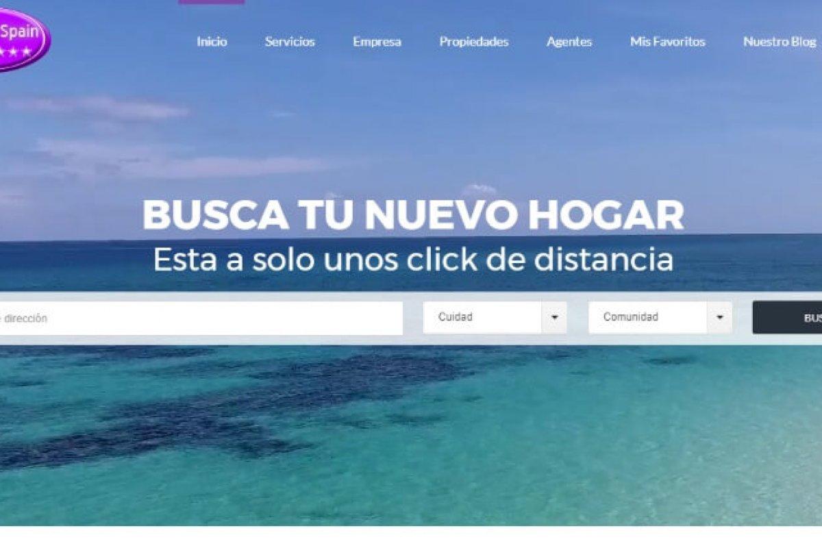 Web corporativa, blog de noticias y servicios inmobiliarios.