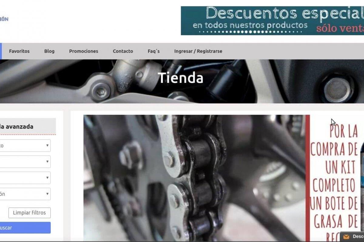 Tienda on-line de venta de recambios para motos