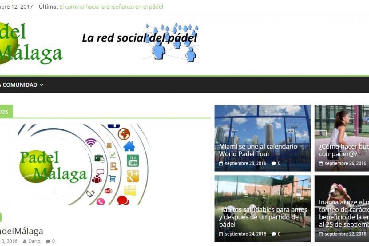 Web de noticias y redes sociales relativas al Paádel